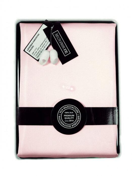 "Шёлковая наволочка ""PRINCESS"" (40х60), 22 момми, светло-розовый"