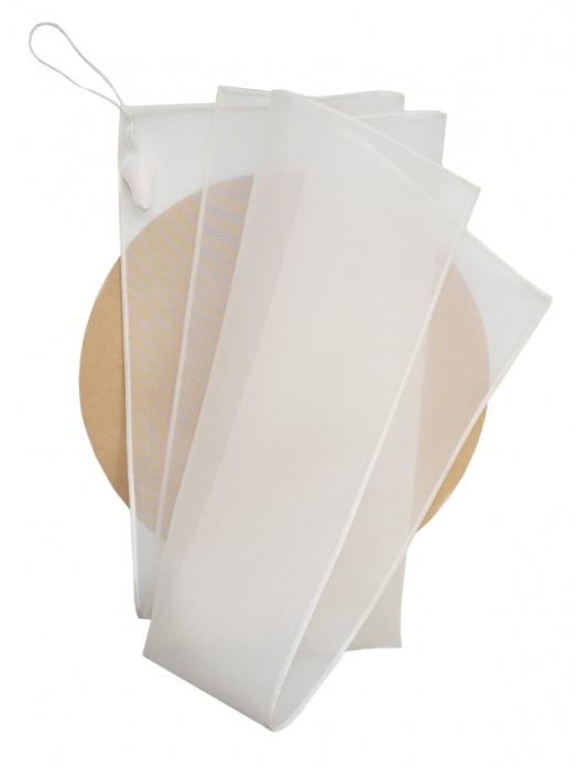 Салфетка для умывания лица из шёлковой органзы