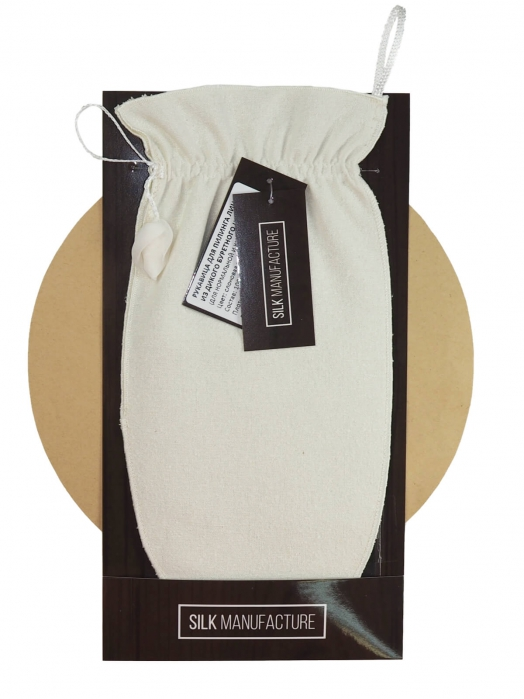 Рукавица для пилинга лица из дикого буретного шёлка