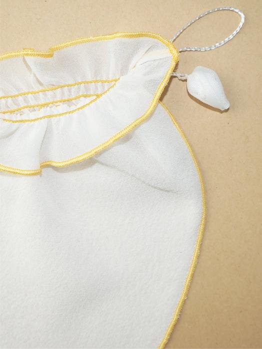 Мини-рукавица для умывания лица из крепового шёлка (для комбинированной кожи), жёлтый