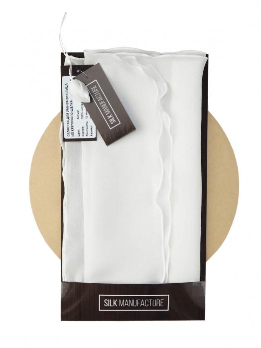 Салфетка для умывания лица из крепового шёлка (для комбинированной кожи),  белый