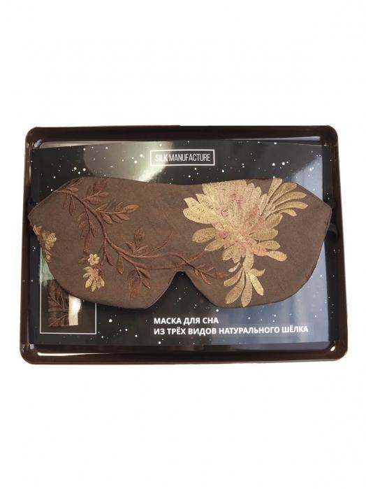 Пятислойная маска для сна из трёх видов натурального шёлка, FLOWER