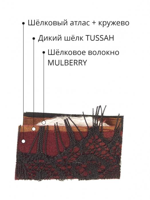 Пятислойная маска для сна из трёх видов натурального шёлка,  WINE LACE